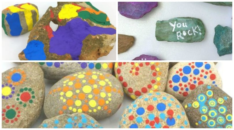 Stone Painting Ideas for Kids…and Adults Too!