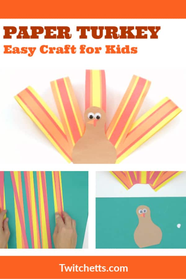 How to make a paper turkey. Video tutorial for an easy paper turkey. Makes a great classroom craft