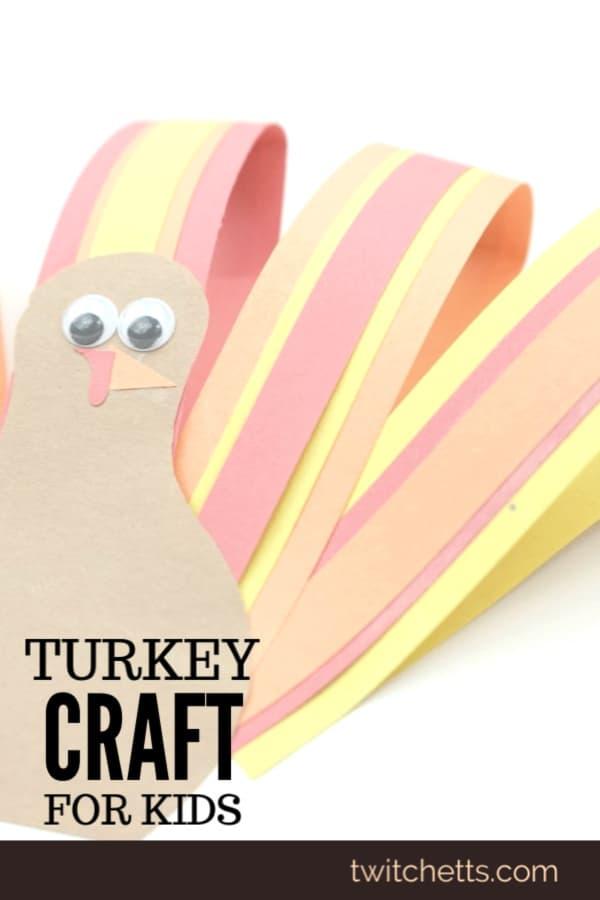 Quick construction paper turkey craft for preschoolers
