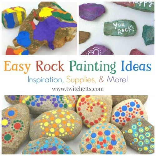 Easy Rock Painting Ideas. Rock decorating techniques from stone painting ideas to construction paper. Perfect for kids and beginner techniques. Favorite supplies too!