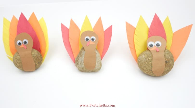 Turkey Rock Craft ~ Thanksgiving Crafts for Kids
