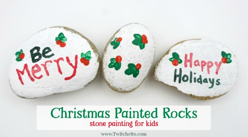 how to make easy christmas painted rocks twitchetts