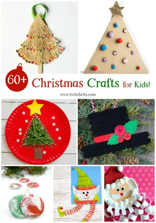 Christmas Crafts for Kids Roundup. A collection of holiday crafts that kids can create. Perfect for preschoolers and kindergartners. From rock painting to ornaments, there is a kids craft for everyone.