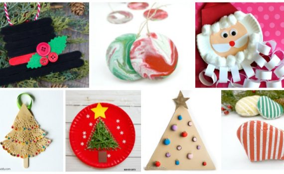 Christmas Crafts for Kids Roundup. A collection of holiday crafts that kids can create. Perfect for preschoolers and kindergartners.