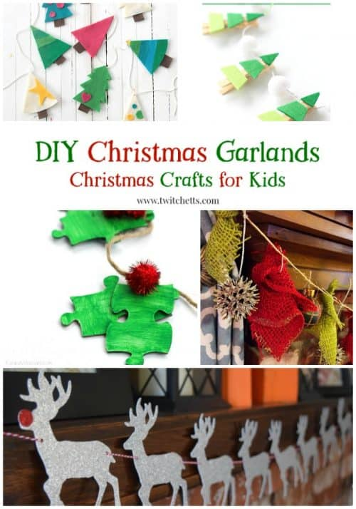 Kids will love to help create Christmas decor with these fun holiday garlands.