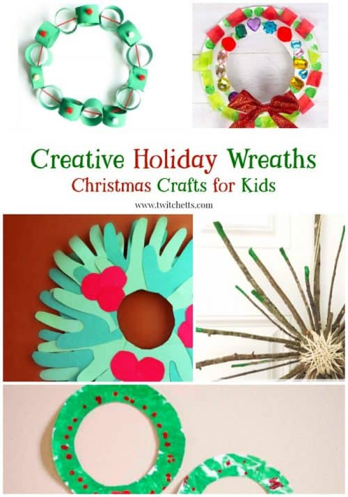 Kids will love to help with the Christmas decor with these fun holiday wreaths.
