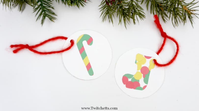 3 easy classroom Christmas ornament crafts made with 1 template