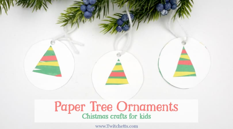 easy paper christmas tree ornament christmas craft for kids twitchetts