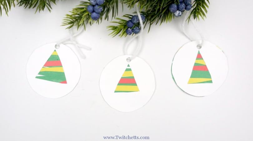 Easy Paper Christmas Tree Ornament ~ Christmas Craft for Kids