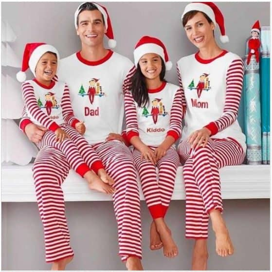these adorable elf on the shelf matching family pajamas are too cute