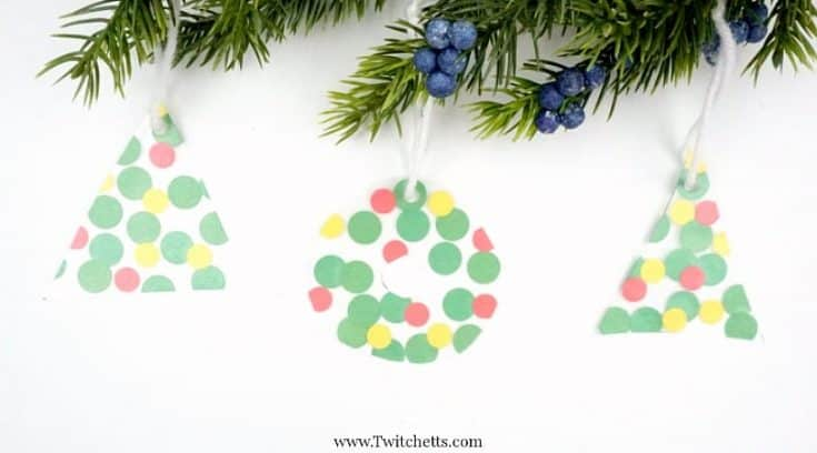 How to make simple suncatcher Christmas ornaments
