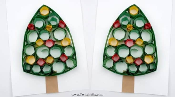 How to make a simple paper quilling Christmas Tree