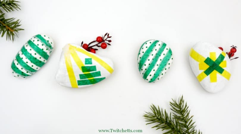 Tissue Paper Christmas Rocks ~ Tissue Paper Crafts for Kids