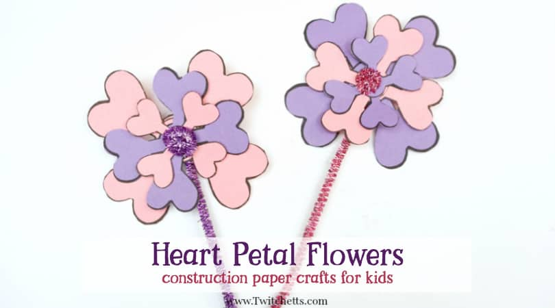 Construction paper flowers made from paper hearts mightylinksfo