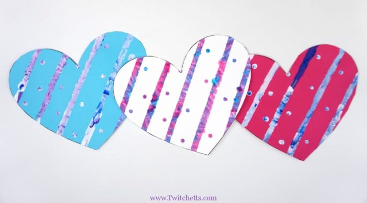 How to make a fun painted paper heart craft with your kids