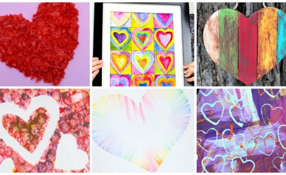 Over 20 Amazing Heart Art Projects. Perfect craft ideas for Valentine's Day, Mother's Day, or any day in between. From creative painting to upcycled creations, there is an art project for all ages.