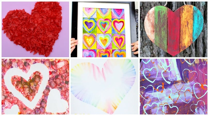 Over 20 inspiring heart art projects that are perfect for Valentine's Day!