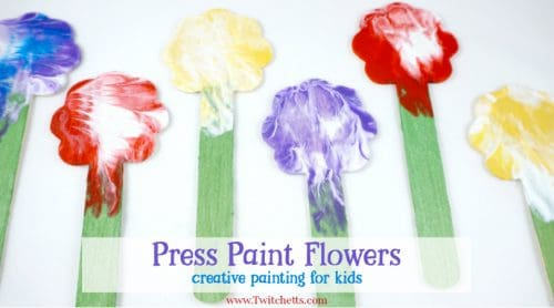 These press painted flowers are an amazing creative painting idea that will create a beautiful, one of a kind, art projects that your child will be proud of.