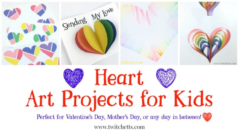 Get inspired to create with these heart art projects for all ages. Perfect for Valentine's Day, Mother's Day or any day in between.