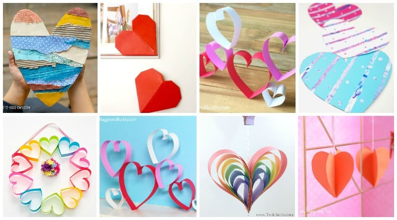 Paper Heart Crafts for Kids ~ Perfect for Valentine's Day, Mother's Day or any other time you want to share a LOVEly craft gift.