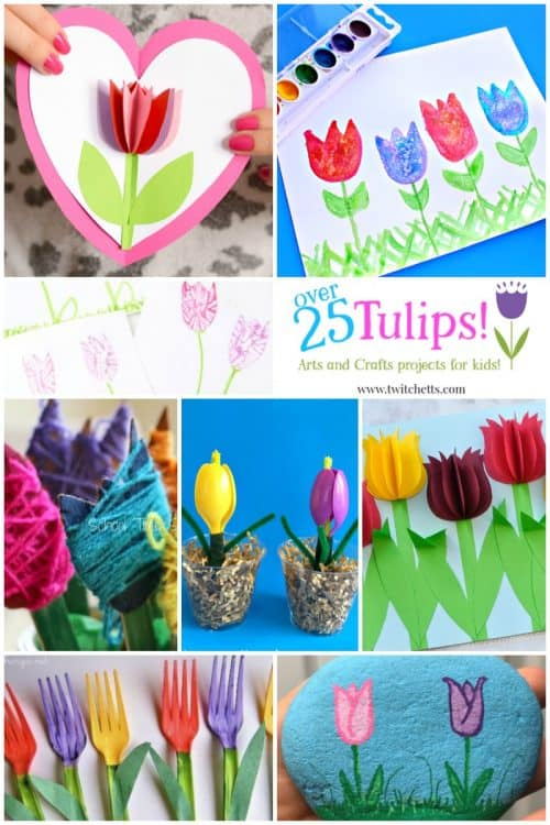 25 Easy Spring Tulips Crafts For Kids To Make This Spring Twitchetts