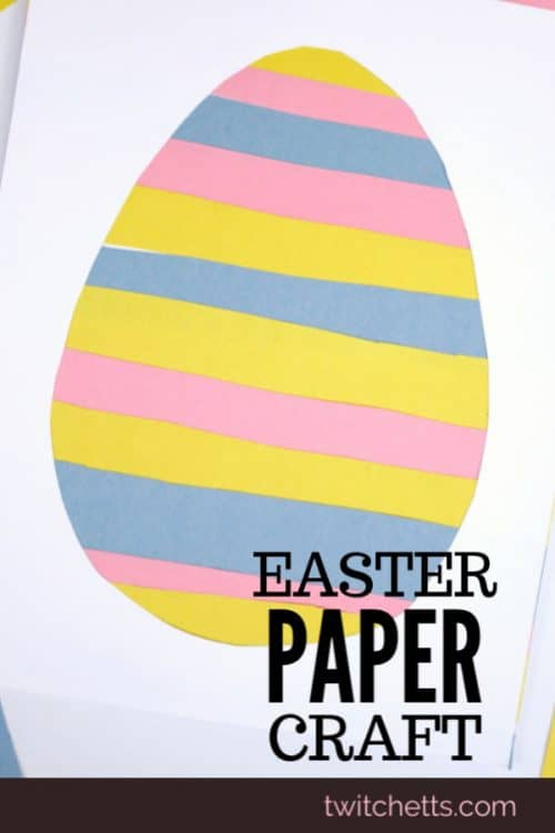 This simple paper Easter egg is the perfect craft for improving your child's scissor skills! From the classroom to the kitchen table, this Easter craft for kids is a fun and quick project. #twitchetts