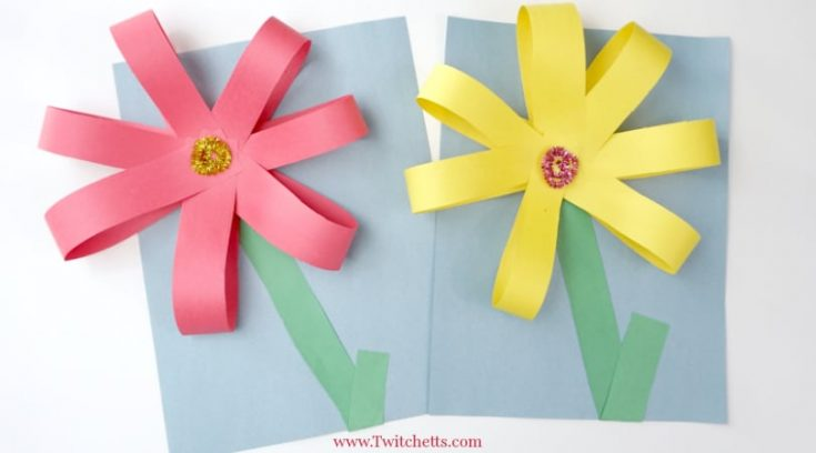 Giant Paper Flowers ~ Construction Paper Crafts for Kids