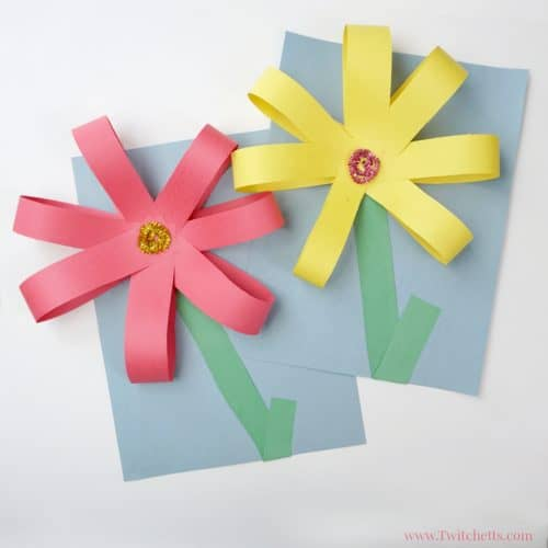 Giant Paper Flowers Construction Paper Crafts For Kids Twitchetts