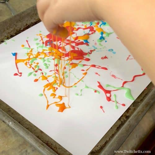 Have you ever tried painting with oobleck? The results will amaze you! Get your hands on this addicting goo and create a painting that is unique and one of a kind!
