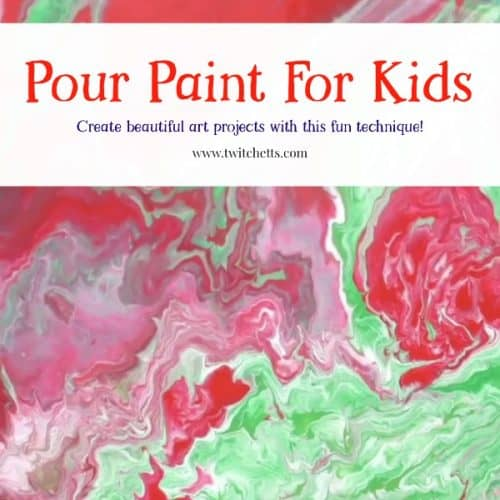 Pour painting for kids. Create beautiful art projects for kids using an inexpensive and safe thickening medium