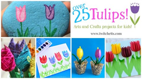 Check out this amazing collection of paper tulips, art projects, and fun crafts from our favorite bloggers! Perfect for a classroom activity, preschool craft, a spring craft and more!