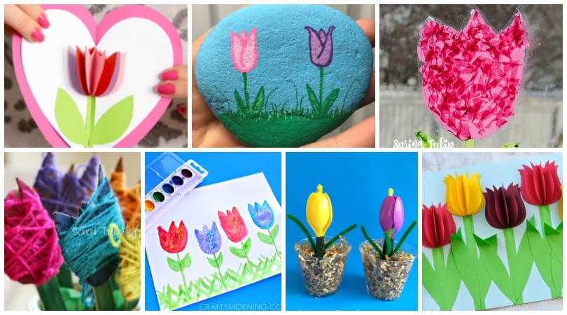 Spring Tulips ~ Over 25 Crafts & Art Projects for kids