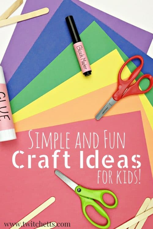 Crafts for kids. Simple and easy craft ideas for children. From paper crafts to rock painting and any basic craft supply in between. What will your kids create? #craftsforkids #craftideasforkids #craftsforpreschoolers #craftsforkindergarten #easycrafts #simplecrafts #twitchetts
