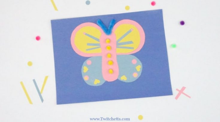 How to make an easy paper butterfly for kids