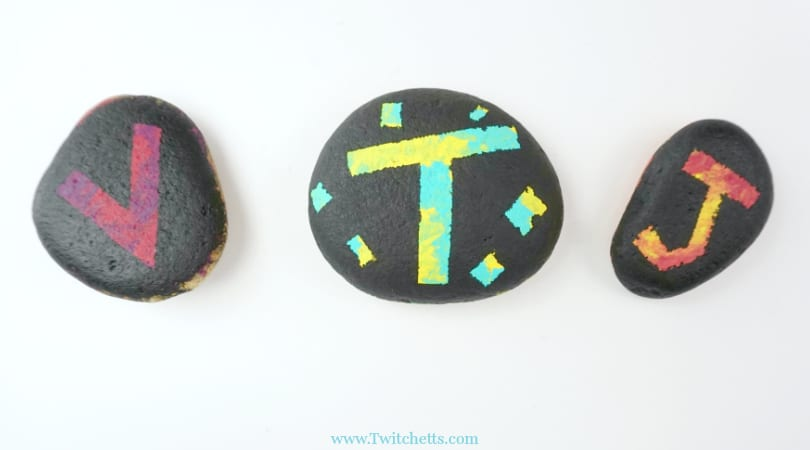 How to make easy silhouette painted rocks for kids