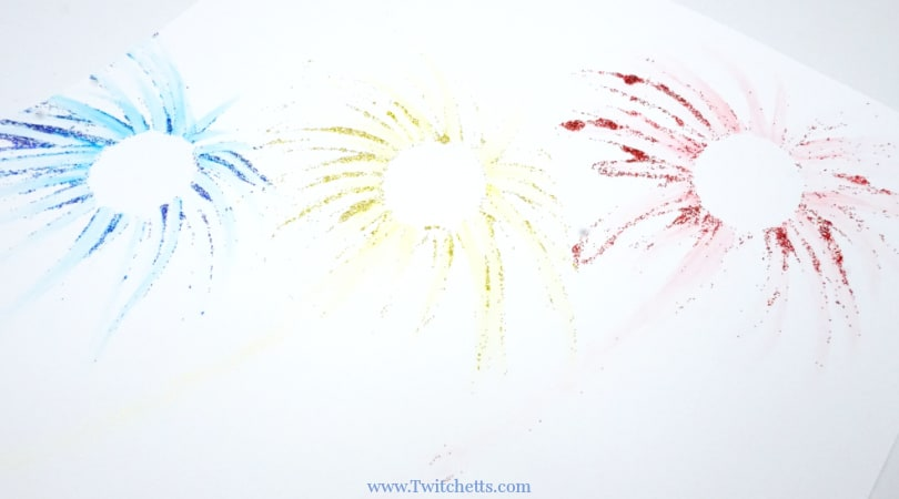 How to make sparkling firework art using mess-free glitter
