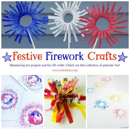 Celebrate the 4th of July with these fun patriotic crafts for kids. These red, white, and blue art projects are perfect for Independence Day, Flag Day, Memorial Day or any other time you want to celebrate the United States of America. #patriotic #4thofjuly #independenceday #memorialday #flagday #redwhiteandblue #craftsforkids #artprojectsforkids #twitchetts
