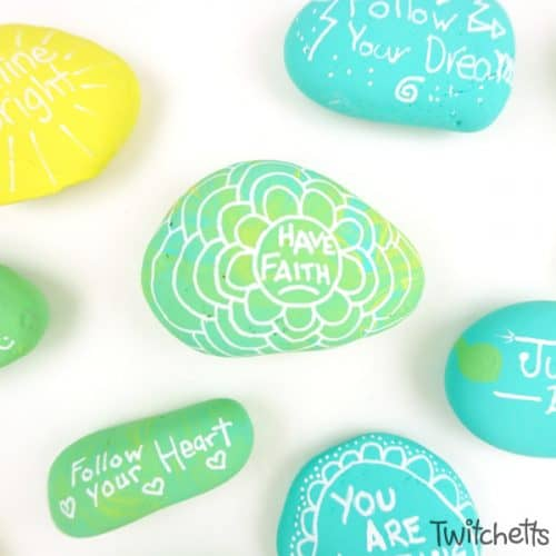 Make kindness rocks with your kids using this quick base coating technique. These colorful stones are perfect for lots of rock painting ideas for kids!