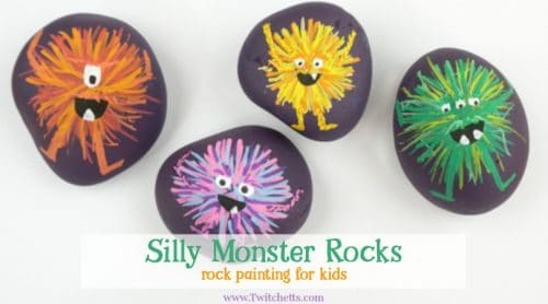 Make these adorablemonster rocks with your kids and some simple rock painting supplies! They are perfect for an afternoon of crafting or a fun Halloween craft.