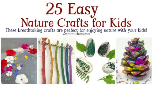 Nature crafts are the perfect way to enjoy the great outdoors. Perfect for summer, spring, or fall! #nature #summer #spring #fall #craftsforkids #activities #preschool #twitchetts