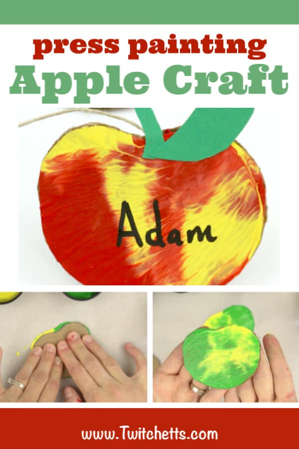 This simple apple craft for kids is a fun and unique way to decorate a classroom for back to school or your living room for fall. Plus your kids will love that they can help make them!