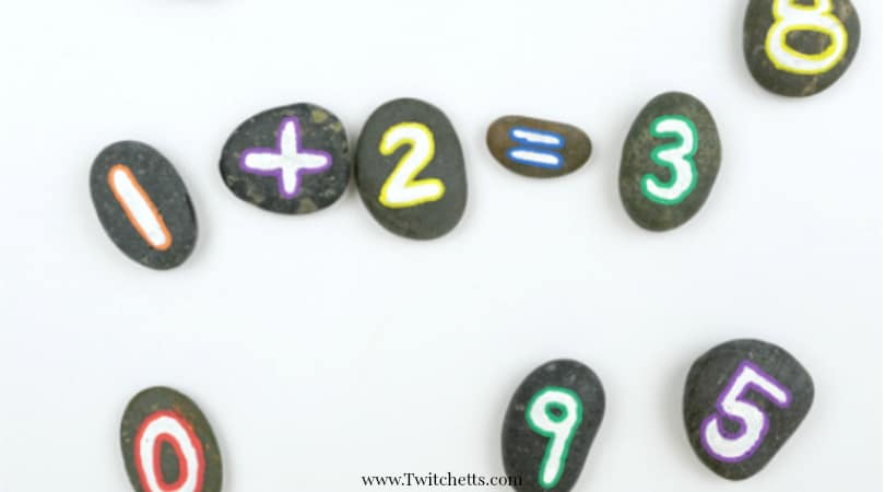 How to make simple number rocks for educational fun!