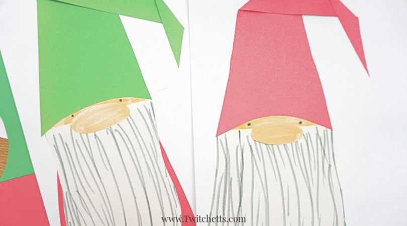How to make an easy paper gnome craft