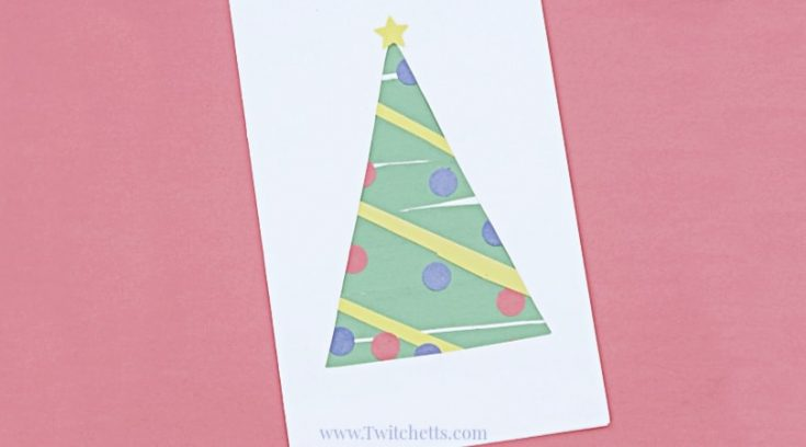 Easy paper Christmas tree that build scissor skills