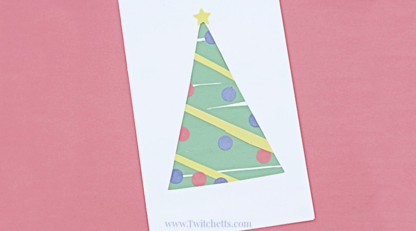 How to make an easy paper Christmas tree & build scissor skills