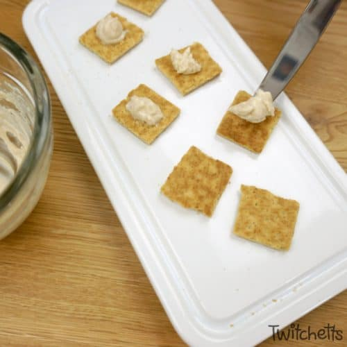 Make amazing cheesecake bites using 4 simple ingredients. It's a recipe so easy a 5-year-old can make it. And so tastythe whole family will enjoy them. #cheesecakebites #snack #afterschool #kidmade #kidsinthekitchen #4ingredient #quick #easy #toddler #almosthealthy #twitchetts