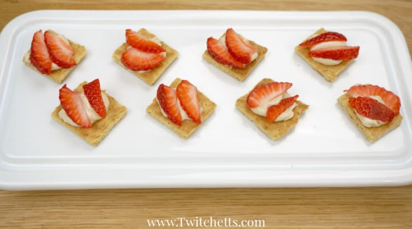 Make amazing cheesecake bites using 4 simple ingredients. It's a recipe so easy a 5-year-old can make it. And so tasty the whole family will enjoy them. #cheesecakebites #snack #afterschool #kidmade #kidsinthekitchen #4ingredient #quick #easy #toddler #almosthealthy #twitchetts
