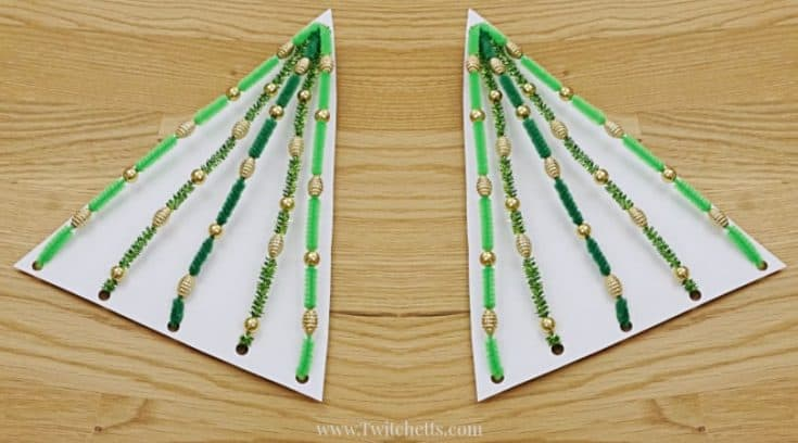 Pipe cleaner Christmas tree activity