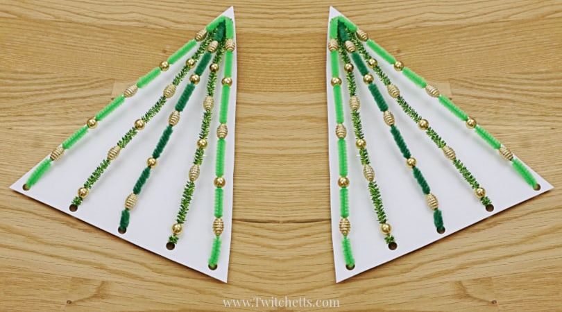 How to make a fun pipe cleaner Christmas tree activity