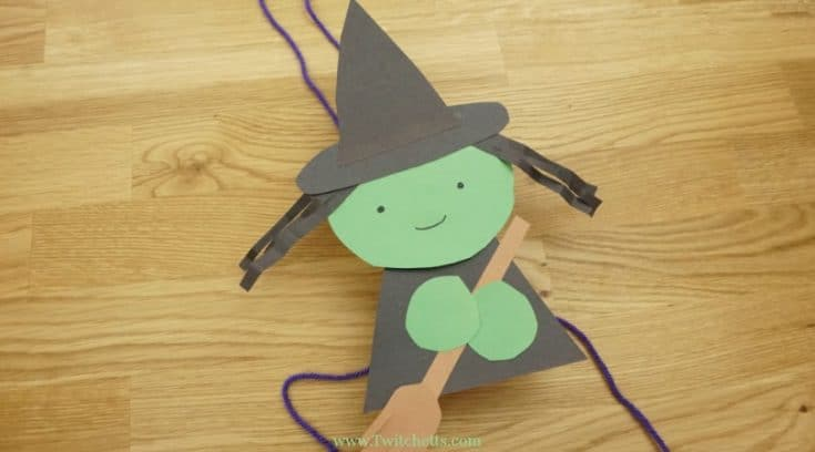 Flying paper witch craftivity